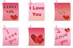 I Love You notes Royalty Free Stock Image