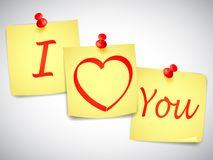 I Love You Notes Royalty Free Stock Photo