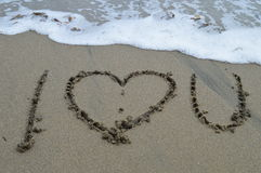I Love You- The Ocean Stock Images