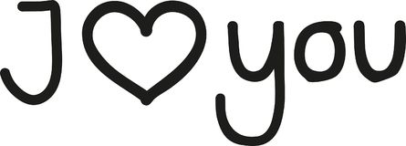 I love you - outlined. Vector Stock Photos