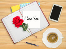 I love you on paper Stock Photos