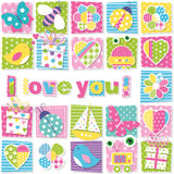 I love you pattern stock illustration