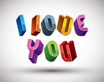 I Love You phrase Royalty Free Stock Images