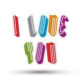 I Love You phrase Royalty Free Stock Photo