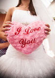 I love you pillow Royalty Free Stock Images