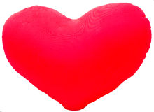 I love you, pillow heart. Isolated background royalty free stock photography