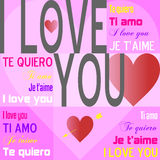 I Love You [Pink] Royalty Free Stock Image