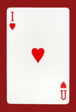 I Love You playing card concept Stock Images