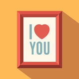 I love you poster Stock Image