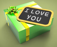 I love You Present Means Special Dates. I love You Present Meaning Special Dates And Romantic Dinners Royalty Free Stock Image