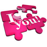 I love you puzzle. A pink I love you puzzle Royalty Free Stock Photography
