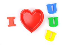 I love you; realistic cut, Royalty Free Stock Photography