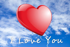 I Love you red Heart Stock Image