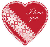I Love You Red Heart. Vector  I Love You Red Heart on white background Stock Photos