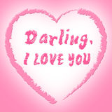 I Love You Represents Darling Passion And Devotion. I Love You Meaning Heart Compassion And Loving Stock Photos