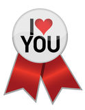 I love you ribbon illustration Stock Image