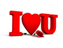 I Love you and rose Royalty Free Stock Images