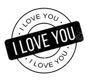 I Love You rubber stamp Royalty Free Stock Photo