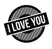I Love You rubber stamp Royalty Free Stock Images