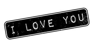I Love You rubber stamp Royalty Free Stock Photography