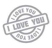 I Love You rubber stamp Stock Photography