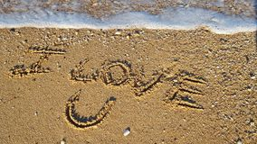 I Love You Sand royalty free stock images