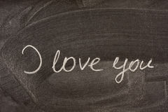 I love you on school blackboard Royalty Free Stock Photo