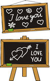 I love you - school love. Puppy love, fall in love, valentine`s day, blind love Royalty Free Stock Photos