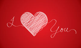 I love you scribble Royalty Free Stock Photo