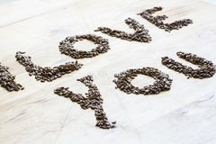I love you from the seeds Royalty Free Stock Photography