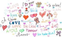 I love you! set Royalty Free Stock Photography