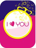 I love you sign. Artistic valentine card or sign with I love you royalty free illustration