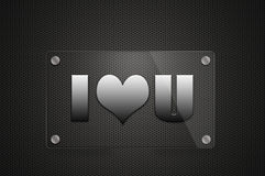 I Love You sign board Royalty Free Stock Photo