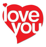 I love you. Sign with heart Royalty Free Stock Photo