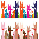 I Love You Sign Language. An image of a sign language hand gesture banner of i love you Stock Image