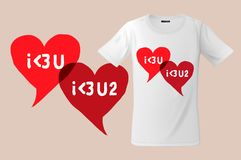 I love you. Slogan graphic for t-shirt design, modern print modern print use for sweatshirts, souvenirs and others Stock Photography