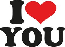 I love you. Slogan vector Stock Images