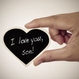 I love you, son Royalty Free Stock Image
