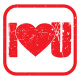I love you stamp Stock Photos