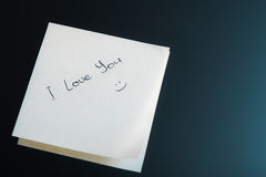 I Love You Sticker Royalty Free Stock Photos