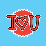 I Love You Sticker Social Media Network Message Badges Design Stock Photo