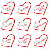 I love you stickers Stock Images