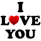 I love you symbol. Isolated on a white Royalty Free Stock Image