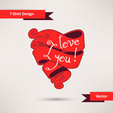 I love you T-Shirt Design vector illustration Royalty Free Stock Images