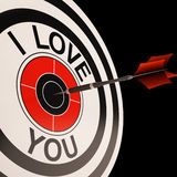 I Love You Target Shows Valentines Affection Stock Photos