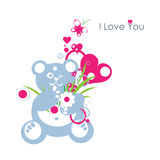 I Love You Teddy Bear Stock Image