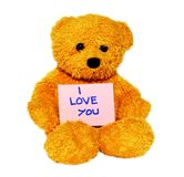 I love you teddy bear Stock Photo
