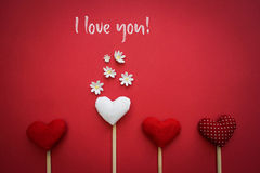 I love you text on canvas Royalty Free Stock Photo