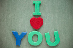I love you text Royalty Free Stock Photo
