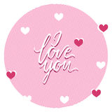 I love you  text handmade calligraphy Stock Photo